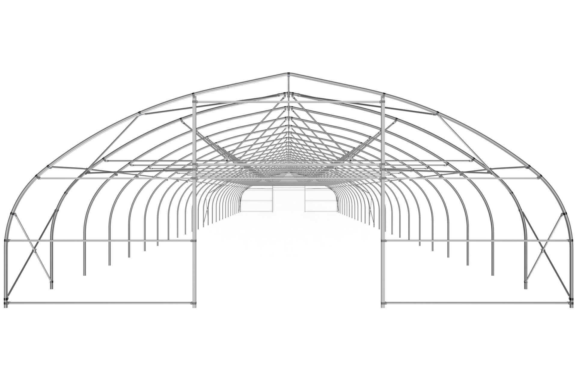 Теплица туннельная с прямой стенкой 11,92×5,985м